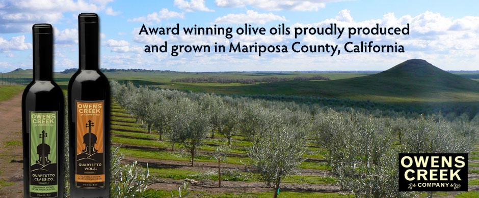 Award winning olive oil produced and grown in Mariposa County, California.